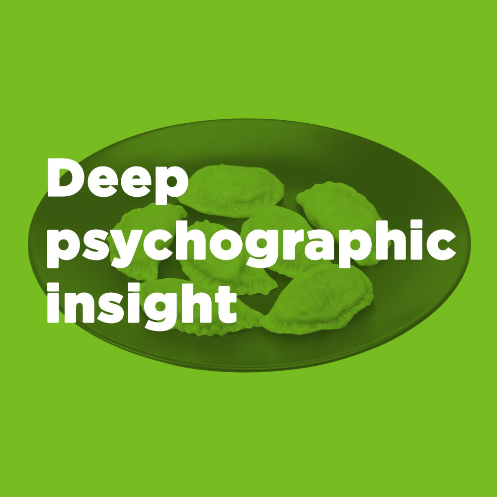 Deep psychographic insight
